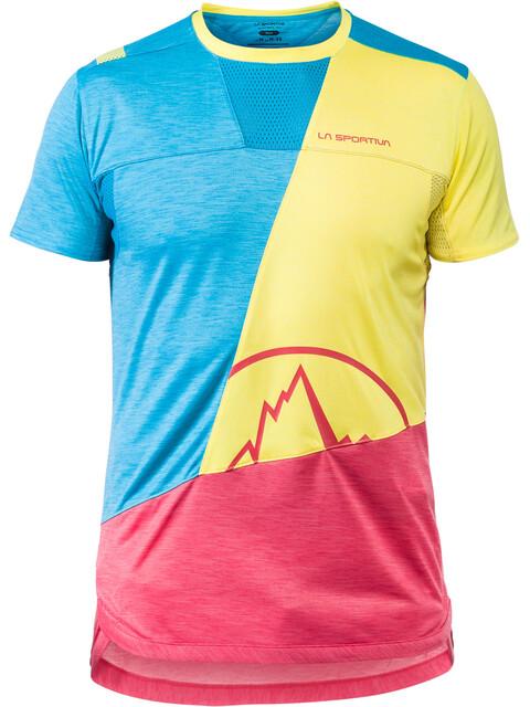 La Sportiva Workout - T-shirt manches courtes Homme - jaune/bleu
